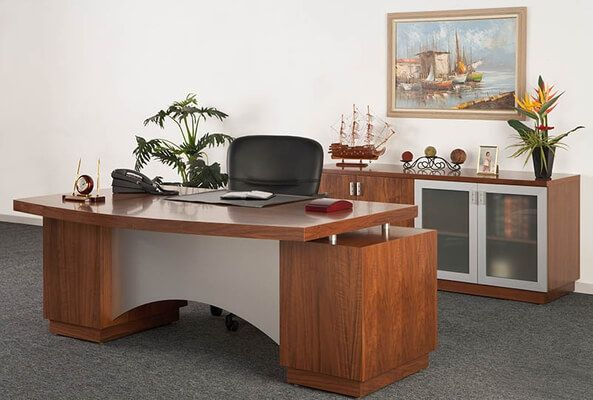 Optimum - Elevate Desk and Credenza