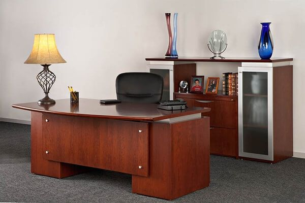 Optimum- Elite Desk & Credenza